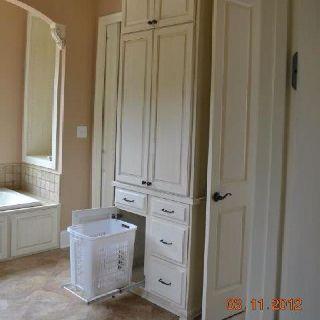 Bathroom Cabinet With Hamper Bathroom Pinterest