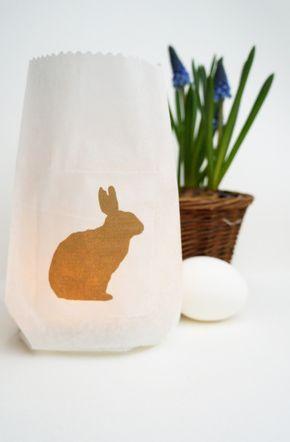 easter luminary bunny
