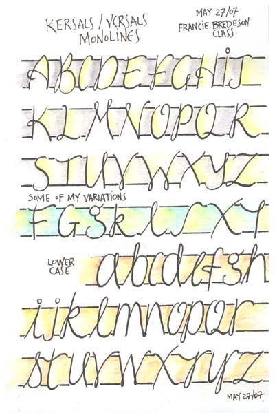 Casual Calligraphy Kersals Versals Letras Pinterest