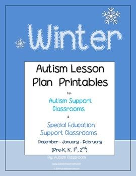 autism lesson plan printables for autism support classrooms winter theme ideas idea plans. Black Bedroom Furniture Sets. Home Design Ideas