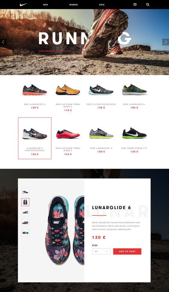 Another way to further promote the brand is a feature on some of the brands websites for example Nike. This will create a trust level with the customer and The Lazy Man