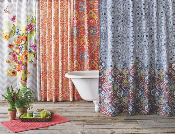 Unique Shower Curtains, Shower Curtain Rings And Curtain