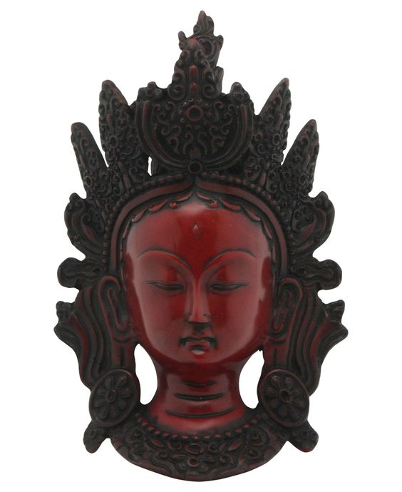Tara Mask Wall Sculpture with Easy Mounting