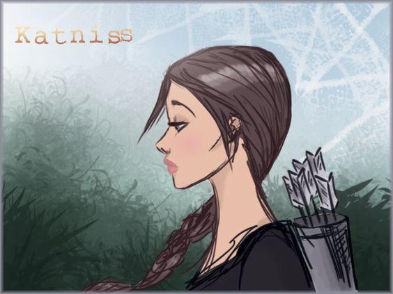 Check out my Katniss Everdeen (Hunger Games) quick fanart drawing :)
