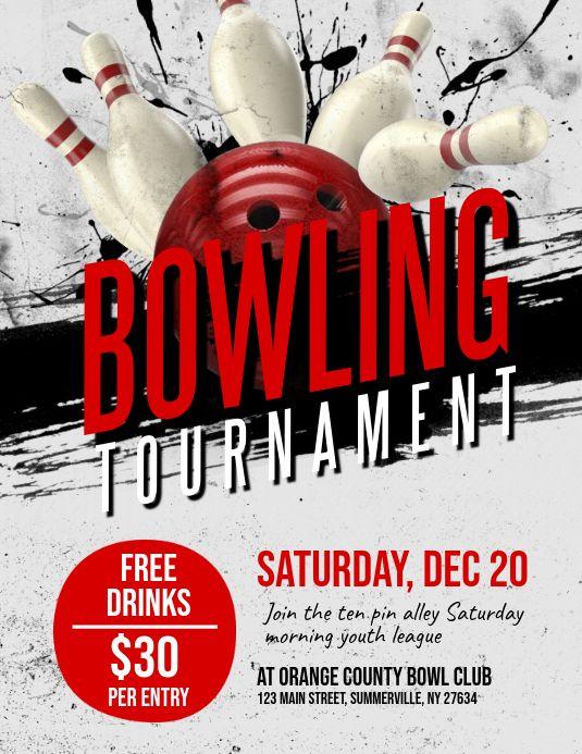Bowling Tournament Flyer Contest Poster Bowling Tournament Contest