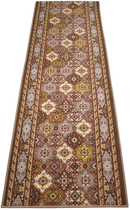 Rugstylesonline Custom Size Runner Bakhtiari Persian Design Roll Runner 26 Inch Wide X Your Length Size Choice Slip Skid R In 2020 Custom Sizing Persian Custom Runners