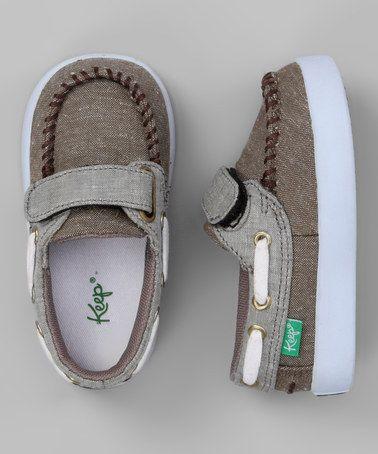 Gray Benten Boat Shoe by Keep