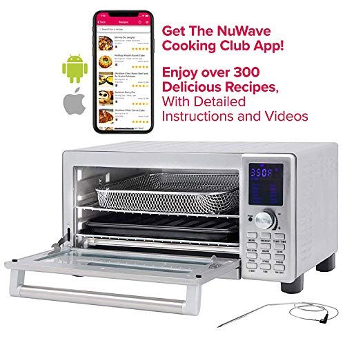Nuwave Bravo Xl 1800 Watt Countertop Convection Oven With Flavor Infusion Technology Fit With Integrated Temp In 2020 Countertop Convection Oven Convection Oven Oven