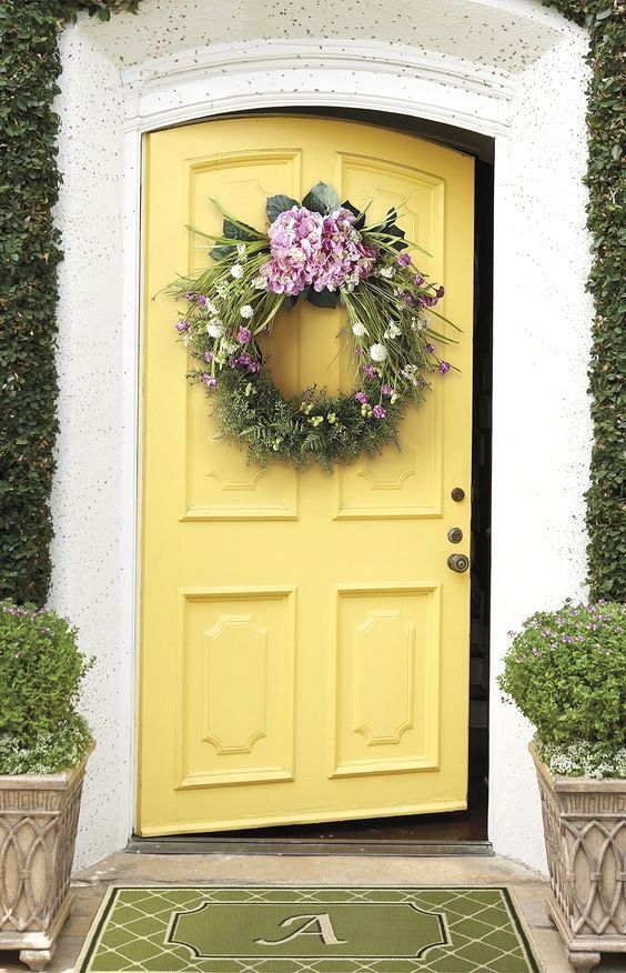 Yellow Front Door Yellow Front Doors Yellow Doors Painted Front Doors