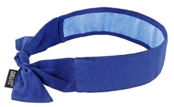 Ergodyne Chill Its 6700ct Evaporative Cooling Bandana With Cooling Towel Tie Solid Blue To Cool Neck Cool Bandanas Bandana Cool Stuff