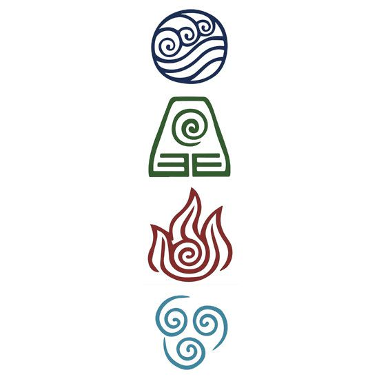 Avatar four elements sticker avatar stickers et les gens - Tatouage 4 elements ...