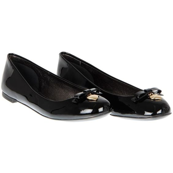 Dolce & Gabbana Black Patent Leather Ballerina Shoes