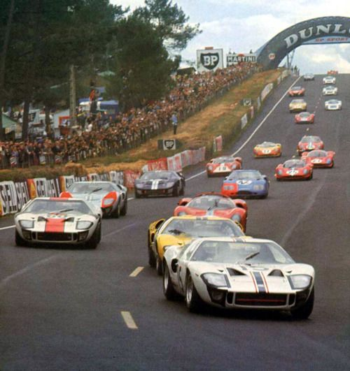 Ford GT 40's assaulting Le Mans in 1966    Yes I was there to see it