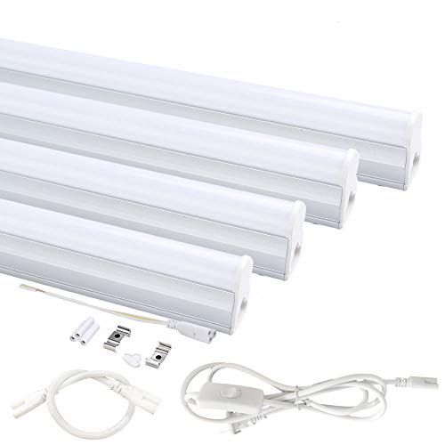 Pack Of 4 Onlylux Led T5 Integrated Single Fixture 4ft Https Www Amazon Com Dp B075pflgbh Ref Cm Led Strip Lighting Led Shop Lights Led Tubes