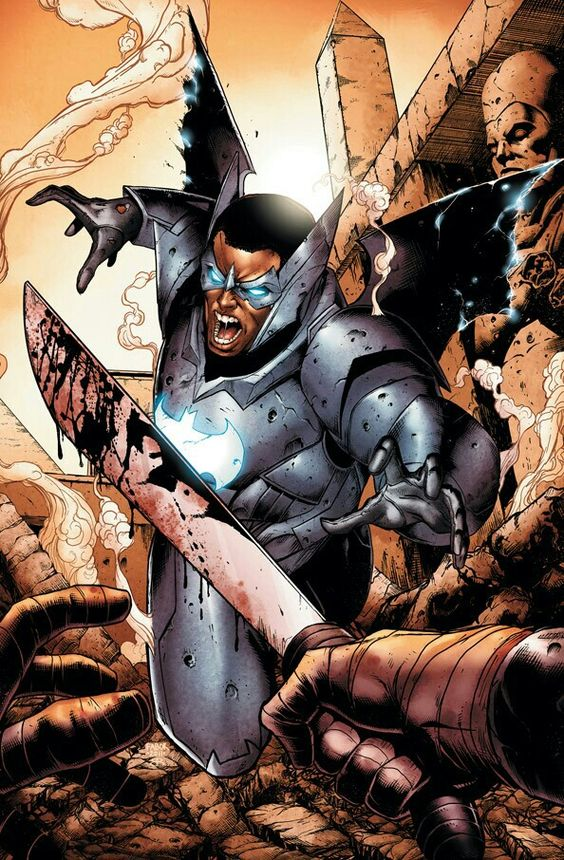 Batwing is a representative of Batman Incorporated from the city of Tinasha, within the Democratic Republic of Congo.  When David Zavimbe was a young boy in Tinasha, his parents died of HIV/AIDS very early in his life.[8] Following the death of their parents, David, and his brother, Isaac, were taken from their orphanage and drafted as boy soldier prodigies, like many children his age, into General Keita's army known as the Army of the Dawn, for a war that ravaged his country. While many…