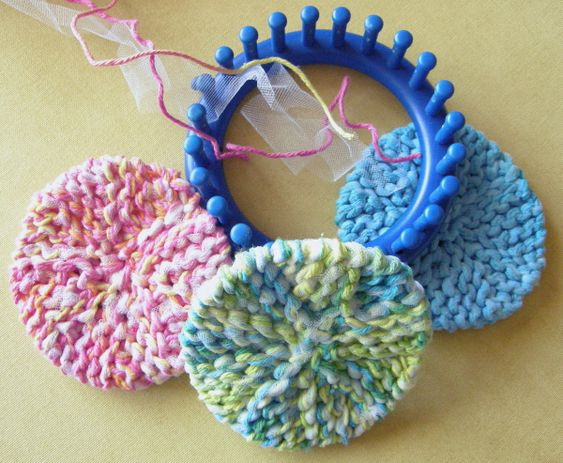 Knitted Scrubbies Free Pattern : Group, Loom and Loom knitting on Pinterest