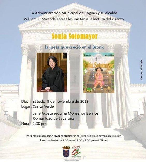 Lectura del Cuento: Sonia Sotomayor: La Jueza que Creció en el Bronx @ Casita Verde, Caguas #sondeaquipr #soniasotomayor #casitaverde #caguas