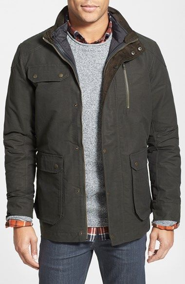 Rodd & Gunn 'Harper' Water Resistant 3-in-1 Waxed Canvas Jacket available at #Nordstrom.  with quilted liner.  $495