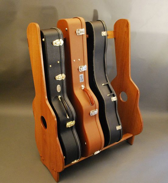 guitar rack it could also be modified for other instrument cases basement pinterest. Black Bedroom Furniture Sets. Home Design Ideas