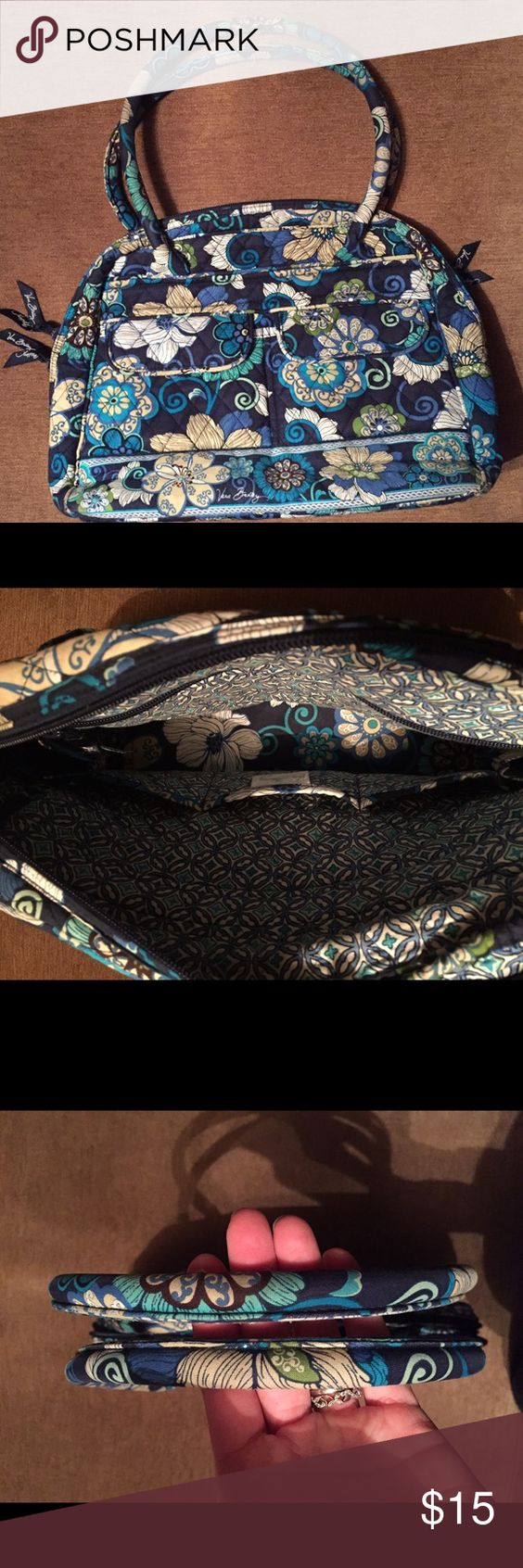 Vera Bradley Bowler Bag- in good condition Vera Bradley Bowler Bag- smoke free home, no stains, small spot of wearing (see pic #4), otherwise in great condition Vera Bradley Bags