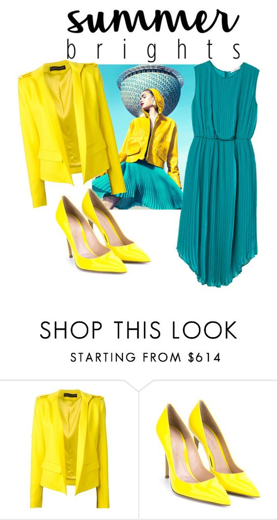 """Summer Brights"" by nmdejager ❤ liked on Polyvore featuring Alexandre Vauthier, Gianvito Rossi, MANGO and summerbrights"