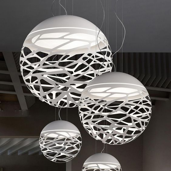 Kelly SO3 Pendant (With images) | White pendant lamp, White