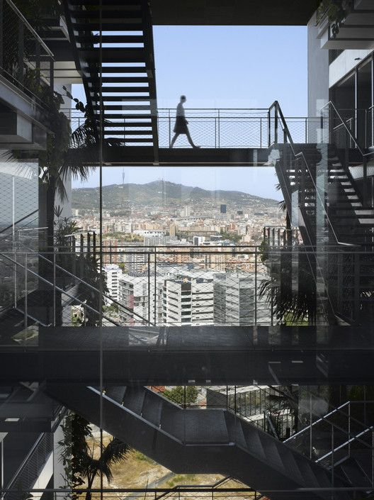 """Five Buildings Compete to be Named """"World's Best Highrise"""",Renaissance Barcelona Fira Hotel, Barcelona / Ateliers Jean Nouvel. Image © Roland Halbe"""