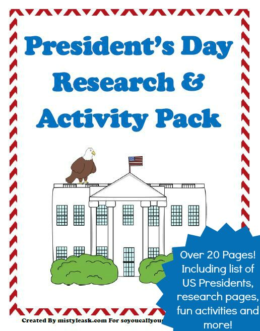 Download this FREE President's Day Research & Activity Pack today and let them have fun learning about US Presidents!: