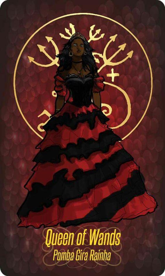 ♫ Numa noite estupenda encontrei uma mulher / Era uma linda pomba gira / A Rainha das Rainhas ♪ ♫: