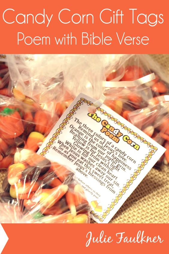Candy Corn Gift Tag | Candy Corn Poem with Bible Verse