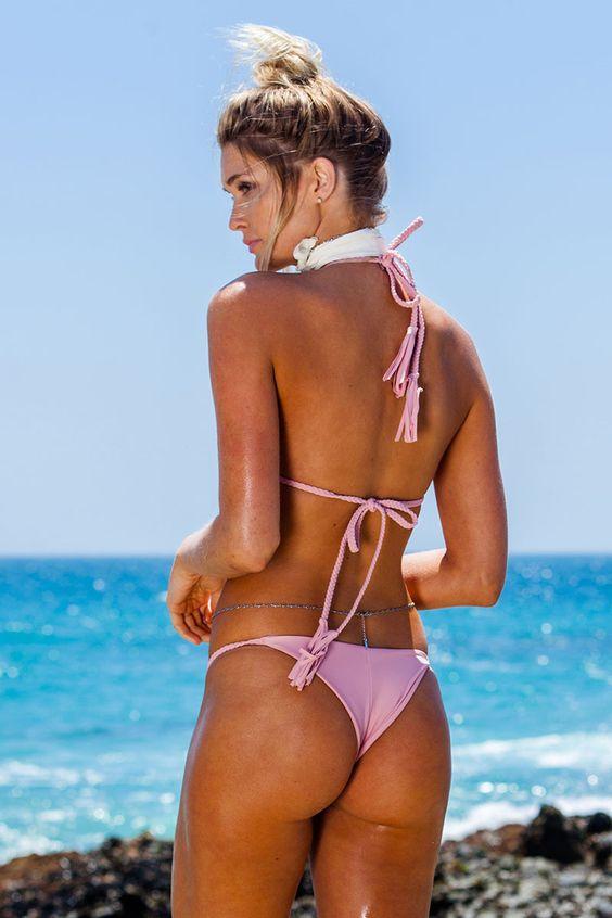 Wild Child Bikini Bottom in Romance - Beach Babe Swimwear® Kayla Lewis