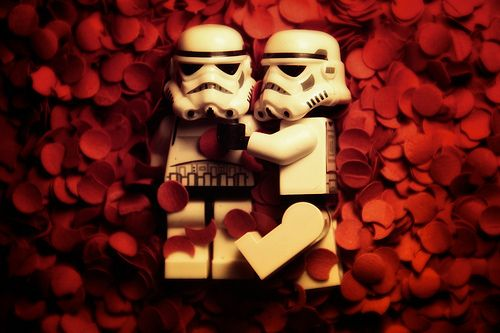 Nerdy Star Wars Storm Trooper love