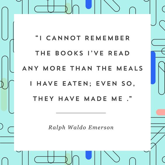 This quote about reading from Ralph Waldo Emerson will make you want to pick up…: