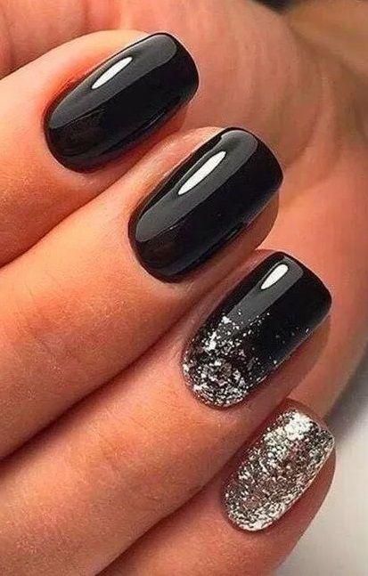 30 Inspiring Winter Nails Color Trend 2020 In 2020 Black Nail Designs Short Square Nails Stylish Nails