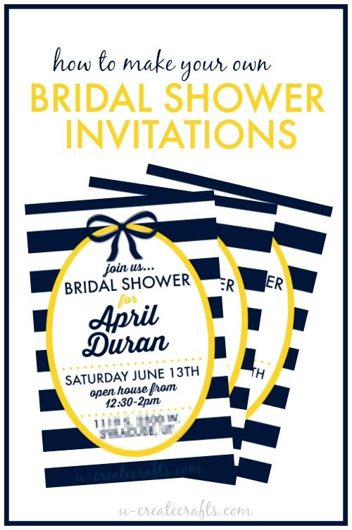 Make Your Own Wedding Shower Invitations is one of our best ideas you might choose for invitation design