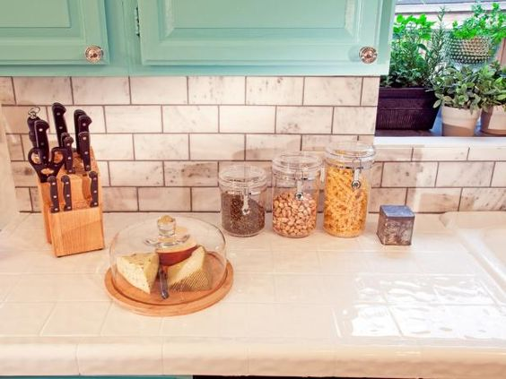 Inspired Examples of Tiled Kitchen Countertops | Kitchen Designs - Choose Kitchen Layouts & Remodeling Materials | HGTV