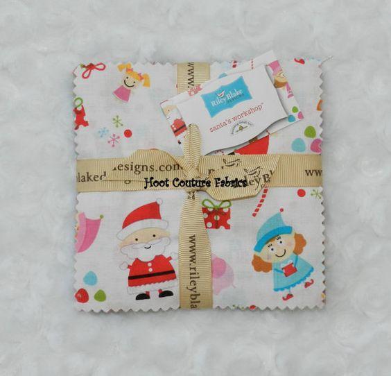 Doodlebug Designs Santas Workshop Charm Pack by skyerevefabrics, $6.50