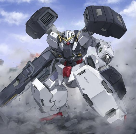 The GN-005 Gundam Virtue (aka Gundam Virtue Particle Type') is the heavy-artillery Gundam in season one of Mobile Suit Gundam 00. The unit is piloted by Tieria Erde.
