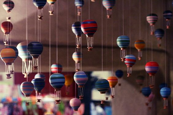 tiny hot air balloons everywhere