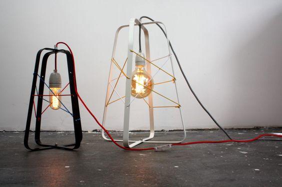 Lichtkooi Large black or white by studio hamerhaai made in Netherlands on CROWDYHOUSE #lamp #industrialdesign