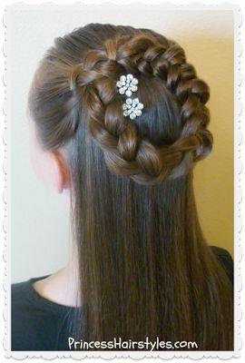 side braided halo braid or wreath braid tutorial