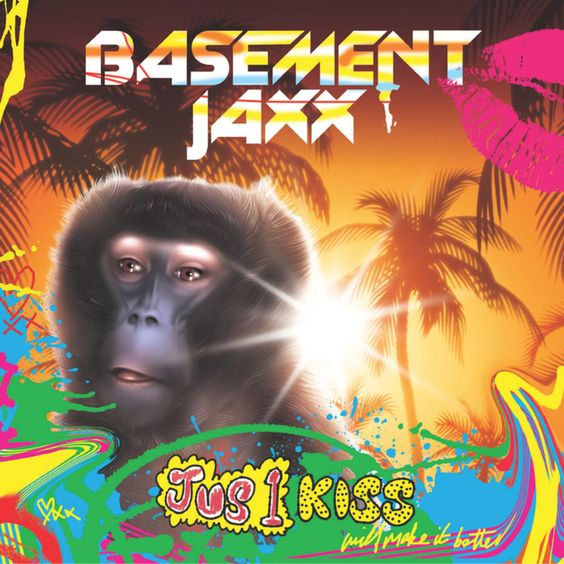 Basement Jaxx – Jus 1 Kiss (single cover art)
