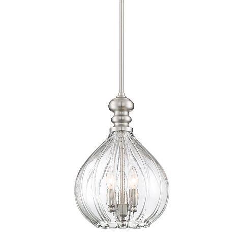 Houten 11 1 2 W Brushed Nickel 3 Light Cluster Mini Pendant 45a83 Lamps Plus Mini Pendant Light Pendant