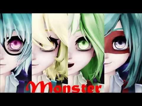 MMD- Monster (HTF- Sniffles, Cuddles, Nutty y Splendid) - YouTube