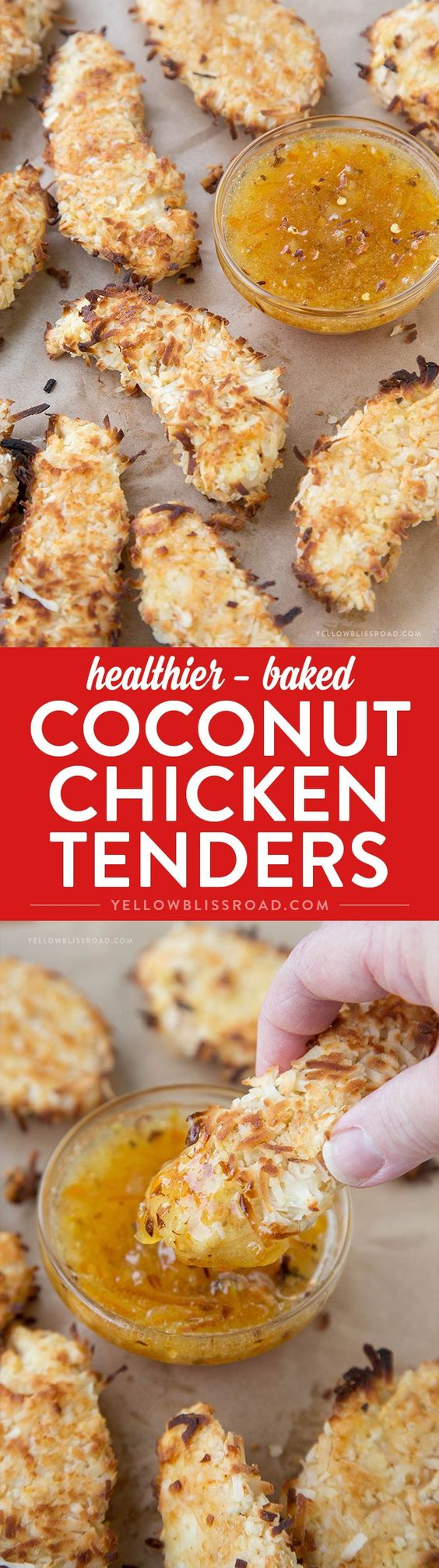 Coconut chicken tenders, Coconut chicken and Chicken tenders on ...