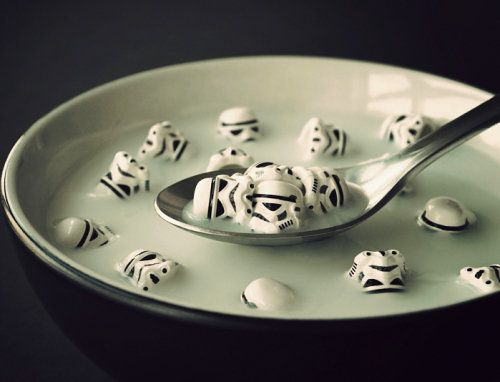 Star wars: Eat Stormtroopers, Wars Cereal, Storm Troopers, Art Prints, Stormtrooper Soup, Star Wars, Chris Mcveigh, Stormtrooper Cereal, Starwars