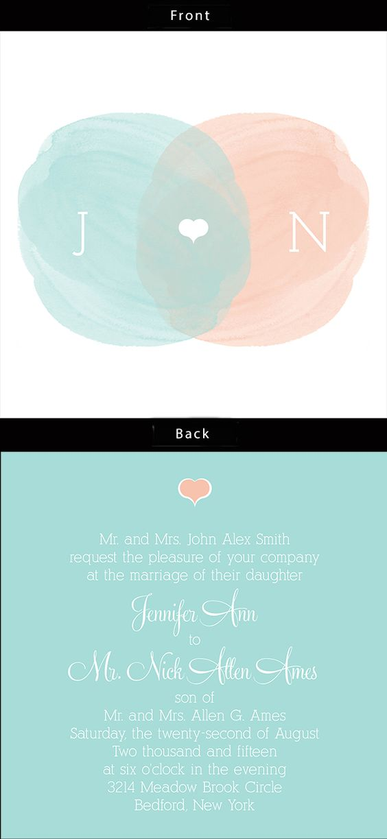 The Water Colors wedding invitation is fun with water colors. Add add your wedding colors for an instant online preview.
