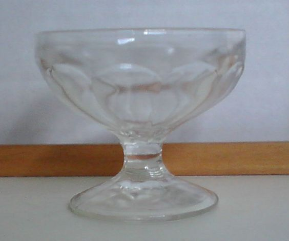 Vintage Ribbed Footed Custard Sherbert Dessert Cup Bowl Cut Clear Glass 3.5x2.25