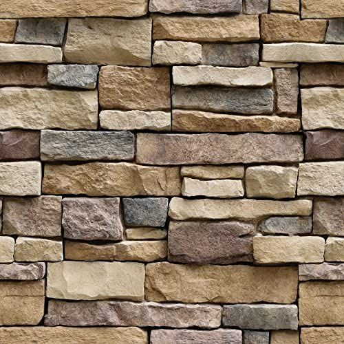 Stone Peel And Stick Wallpaper Removable Contact Paper Prepasted Wall Paper Or Self Adhesi Stone Wallpaper Wall Stickers Brick 3d Stone Wallpaper