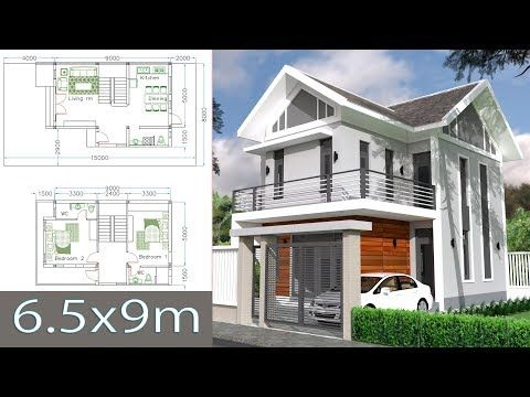 House Plans Design Idea 13x8 5 With 6 Bedroomsthe House Has Building Size M X M 13 00 X 8 50land Size Model House Plan Small House Design Home Design Plans